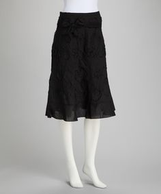 Take a look at this Black Side-Tie Skirt by Paniz on #zulily today!