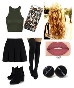 """""""Untitled #8"""" by lauracox88888 on Polyvore featuring Alexander Wang, Topshop and Smashbox"""