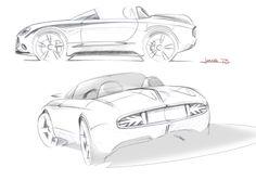 MINI Superleggera Vision Concept Design Sketches