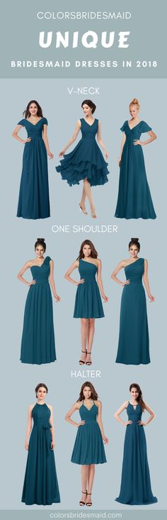 Unique bridesmaid dresses in v-neck, one-shoulder and halter are custom made to all sizes including plus size and sold under 100. What cheap bridesmaid dresses they are!