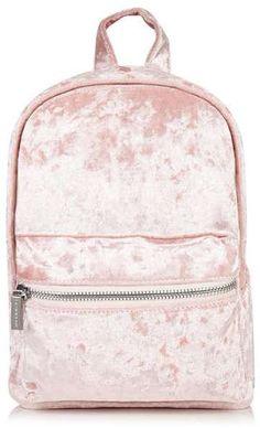 Skinny dip **pink velvet backpack