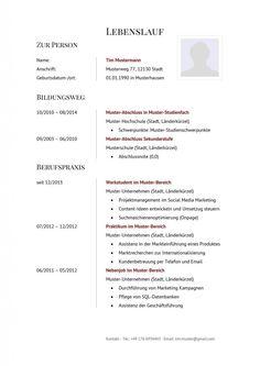 Bewerbungsschreiben Beispiel, Vorlage und Muster | Learn german ...