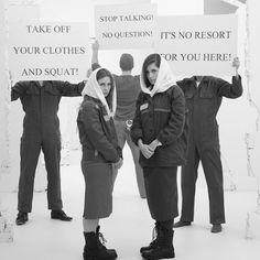 """Nadescha Tolokonnikowa und Marija Aljochina für """"Pussy Riot Unmasked"""" – Gefängnis-Shooting für Bildband  http://www.stylebook.de/stars/Pussy-Riot-Gefaengnis-Shooting-fuer-Bildband-516864.html"""