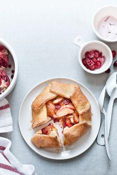 apple-cranberry galettes