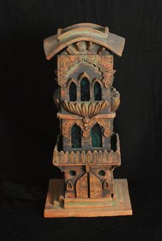 Jamil Hussain - the making of the minaret Clay Houses, Ceramic Houses, Ceramic Birds, Miniature Houses, Ceramic Pottery, Ceramic Art, Art Houses, Ceramics Projects, Clay Projects