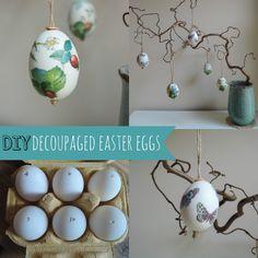 Decoupage egg decorations