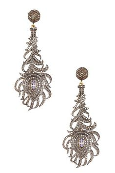 Tanzanite & Diamond Feather Earrings - 2.52 ctw by Forever Creations USA Inc. on @HauteLook