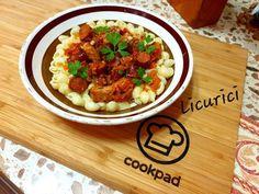 Paste cu carne, cârnați și legume Chana Masala, Cooking Recipes, Ethnic Recipes, Food, Chef Recipes, Essen, Meals, Yemek, Eten
