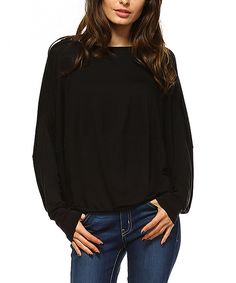 Take a look at this Black Dolman Top today!