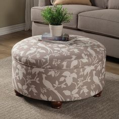 "Features:  Type: -Standard.  Upholstery Color: -Grey/White. Dimensions:  Overall Height - Top to Bottom: -17.5"".  Overall Width - Side to Side: -30"".  Overall Depth - Front to Back: -30"".  Overall Pro"