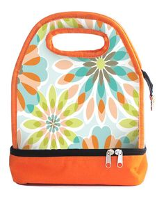 Take a look at this Orange Floral Luminaire Lunch Bag by Jay Import on #zulily today!
