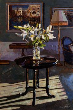"""Bruce Yardley (b. 1962) — """"Lilies and Ebony"""", 2014"""