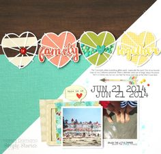 Layout from design team member Nancy Damiano using We Are Family and cut files from The Cut Shoppe