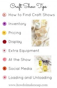 Tips for Selling Soap at Craft Shows