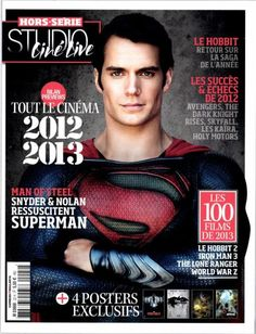 Henry Cavill as Superman - cover of Studio Ciné Live. He really reminds me of Christopher Reeve in this picture