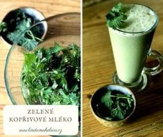 Zelené kopřivové mléko Korn, Pesto, Smoothies, Pudding, Ethnic Recipes, Desserts, Smoothie, Tailgate Desserts, Deserts