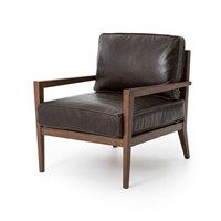 Architectural interest and deep seating come standard on the Laurent Accent Chair. Angels, walnut-toned framing with a beautiful ladder back brings mid-century interest to a rich chocolate leather seating. Wrought Iron Patio Chairs, Deck Chairs, Dining Chairs, Ikea Chairs, Kitchen Chairs, Office Chairs, Room Chairs, Modern Furniture Online, Large Furniture