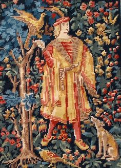 Vintage French Needlepoint Tapestry 'Le by JacquesLouis on Etsy