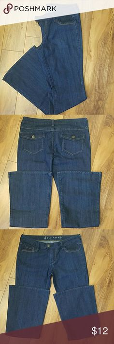 Old Navy Boot Cut Jeans Excellent condition Old Navy Boot Cut Jeans. Size 5 Regular. Dark blue.  Cotton/poly/Spandex so they have some stretch.   Allergen free closet.   Offers! Bundles! Love them ? Old Navy Jeans Boot Cut