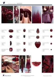 Jablonex® Marsala Color Bead Selection