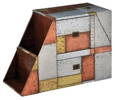 Multi Metal Patchwork End Table