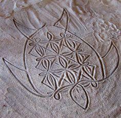 VANUATU sand drawing