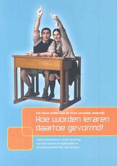 een algemene situering van het nieuwe - en nu enige - beroepsprofiel van de leraren secundair onderwijs in Vlaanderen. 10 typefuncties van dit beroepsprofiel en de afgeleide basiscompetenties. Het is een nuttig instrument voor de teams van de lerarenopleidingen om hun programma's vorm te geven. Brochure te downloaden: http://www.vlaanderen.be/nl/publicaties/detail/een-nieuw-profiel-voor-de-leraar-secundair-onderwijs-hoe-worden-leraren-daartoe-gevormd-informatiebrochure-bij-de-invoering-van