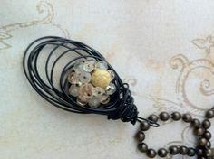 upcycled vintage elements to new trendy necklace cherishdesigns.wordpress.com