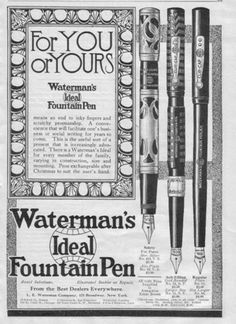 Waterman's Fountain Pen ad