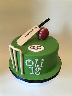 Cricket cake Cricket Birthday Cake, Cricket Theme Cake, 10th Birthday, Birthday Cakes, Birthday Parties, Amazing Food Art, Cake Online, Cute Cupcakes, Cake Pictures