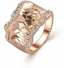 Unique Designer Ladies Jewelry Fashion Exaggerated Rhinestones Gold Ri (€13) ❤ liked on Polyvore featuring jewelry, rhinestone jewelry, gold rhinestone jewelry, gold jewelry, yellow gold jewelry and gold jewellery