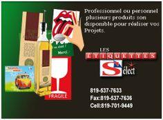 Il me fera plaisir de vous conseillez sur vos besoins d'étiquettes autocollantes. 819-537-7633 Fax:819-537-7636 Cell:819-701-9449 Industrial Park, Personalized Stickers, Sticky Labels, Food Items