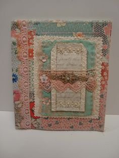 fabric collage book