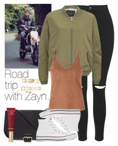 """Road trip with Zayn."" by welove1 ❤ liked on Polyvore featuring Topshop, Burberry, Maison Scotch, Converse, Glamorous, Too Faced Cosmetics and Forever 21"