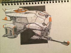 Spaceship, Virnard Magpantay on ArtStation at https://www.artstation.com/artwork/q6mra