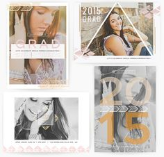 Search for over card templates to design invitations, save-the-date notes, and announcements. These card template sets feature holiday and event themes as well as collage templates for personal and professional cards. Senior Announcements, Graduation Announcement Template, Invitation Design, Invitations, Event Themes, Graduation Cards, Creative Cards, Card Templates, Open House