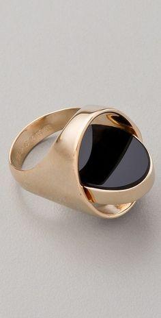 Maison Martin Margiela Flip Ring in Gold - Lyst