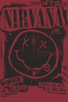 Nirvana a poster , metal rock Poster S, Poster Wall, Poster Prints, Bedroom Wall Collage, Photo Wall Collage, Art Grunge, Grunge Goth, Grunge Style, Grunge Makeup