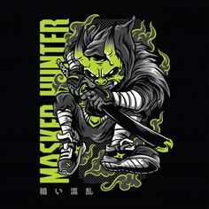 Hunter Douglas, Hunter S. Thompson, Hunter X Hunter, Hunter Hayes, Hunter Jumper, Masque Hannya, Japanese Demon Mask, Arte Ninja, Cyberpunk Anime