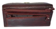 Cherry Leather Purse | Heaps Of Card Slots | Fashion Purse | Western Purse