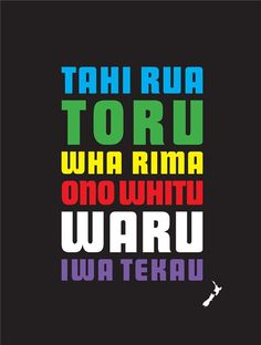 Maori count to ten. Maori Words, New Zealand Houses, Maori Designs, Nz Art, Maori Art, Classroom Walls, Kiwiana, Teaching Resources, Samoan Tribal