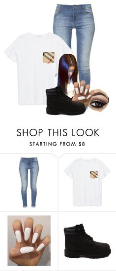 """./"" by ireaynahforeign ❤ liked on Polyvore featuring Zara, Burberry and Timberland"