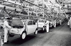 Fiat 500 Factory - assembly line