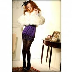 $15.60 Elegant and Warm-Keeping Shearling White Long Sleeves Artificialwool Coat For Women