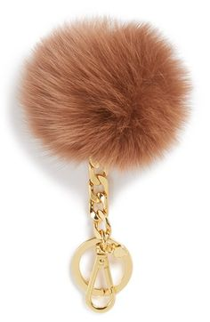 I want the black one!!! MICHAEL Michael Kors Genuine Fox Fur Bag Charm available at #Nordstrom