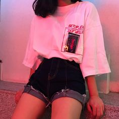 Bild über Mode in es t i l o. ,, – fashion # aesthetic fashion … – The World Mode Outfits, Korean Outfits, Retro Outfits, Grunge Outfits, Vintage Outfits, Casual Outfits, Girl Outfits, Simple Outfits, Hipster School Outfits