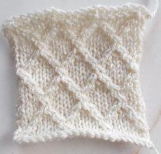Le point jersey croisillon au tricot - La Grenouille Tricote