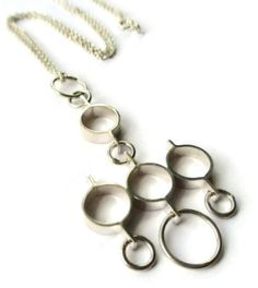 Jorma Laine modernist sterling silver pendant, 1976 London import mark, Finnish Nordic midmod necklace, Scandinavian silver, Finland. https://www.etsy.com/uk/inglenookery/listing/521539331/jorma-laine-modernist-sterling-silver