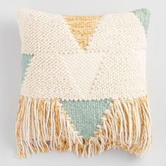 Boho Fringe Throw Pillow - v1
