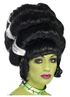 Smiffys Women's Pin Up Frankenstein Wig: Complete your monstrous look in this fantastic wig White Halloween Costumes, Halloween Wigs, Halloween Fancy Dress, Adult Halloween, Halloween Ideas, Halloween 2017, Halloween Stuff, Halloween Party, Black Pin Up